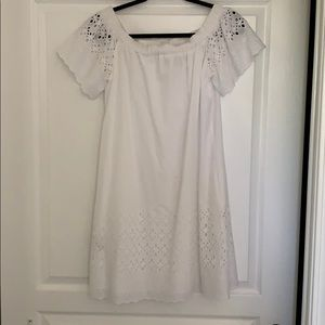 Anthropologie Eyelet Off the Shoulder Dress